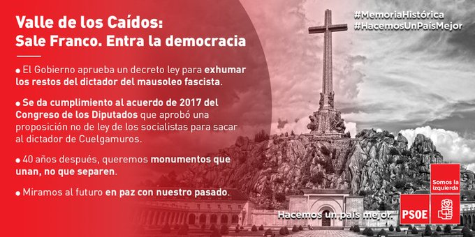 """Calvo: """"Es inasumible para una democracia madura que Franco tenga una tumba de Estado"""""""