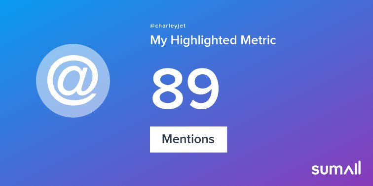 My week on Twitter 🎉: 89 Mentions, 1 New Follower. See yours with https://t.co/z0OiOqAO9u https://t.co/T6ebTRM2tW