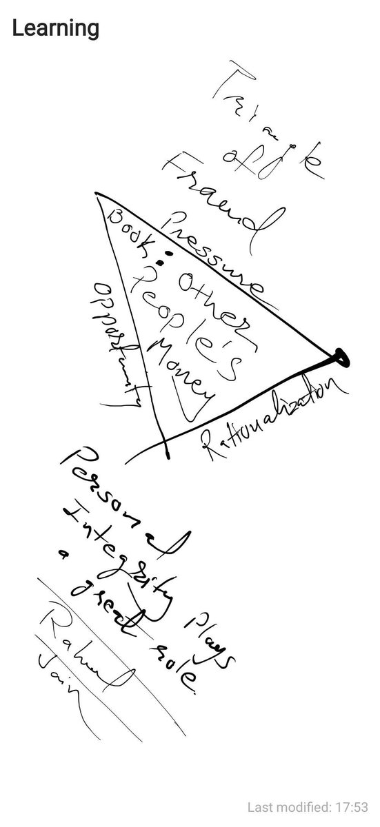 rahul jain on twitter learning notes triangle of fraud book