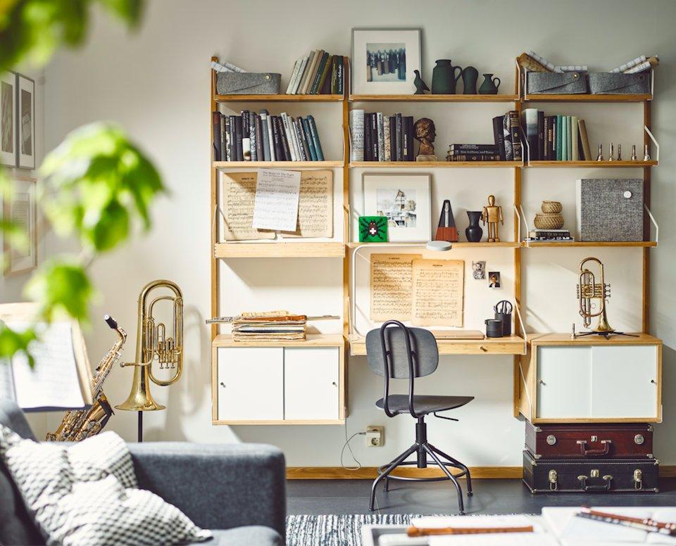 Scrivania Da Parete Ikea.Ikea On Twitter Con Una Combinazione Di Scaffali E Superfici D