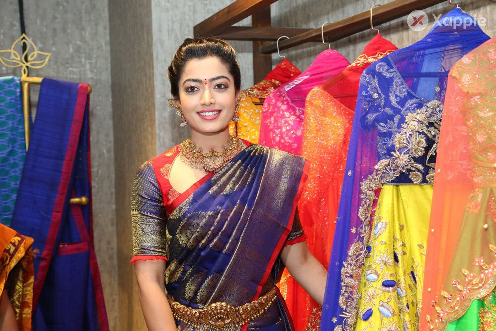 Xappie On Twitter The Current Face Of Tollywood Reigning Beauty Rashmikamandanna Inaugurated The Popular Fashion Designer Mugdha S New Store At Jubilee Hills Road No 36 Rashmika Looked Resplendent In A Blue And