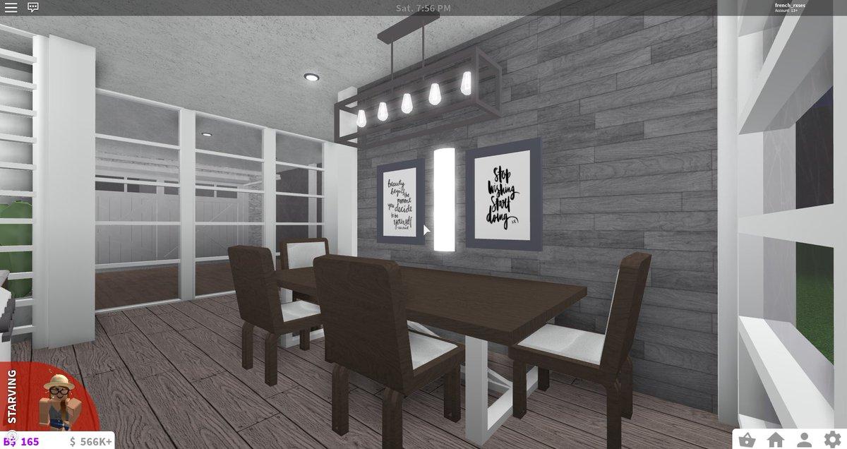 Rose Baby On Twitter Bloxburg Waterfront Family Home 55k - roblox kitchen ideas bloxburg