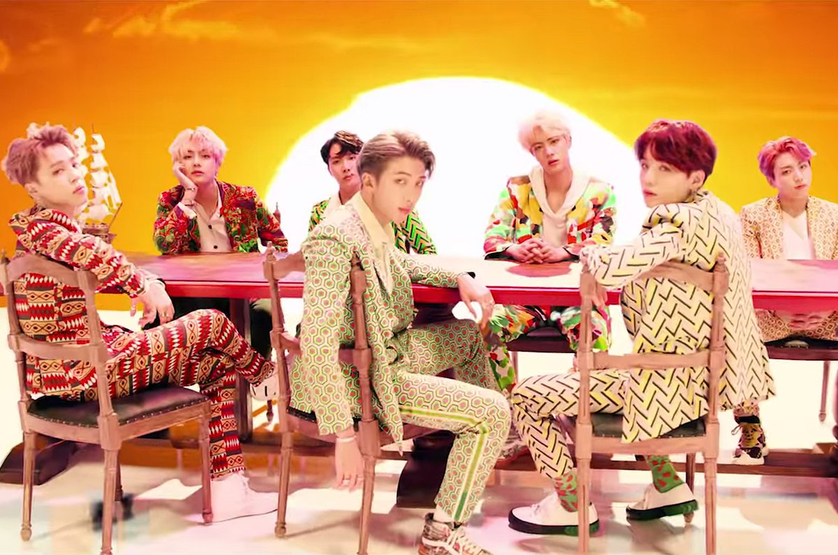 BTS takes pride in their sense of self in vibrant video for #IDOL https://t.co/Os9q3nigaY