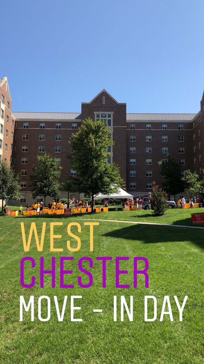 If you're moving into @WCUofPA come check us out in the Residence Quad!