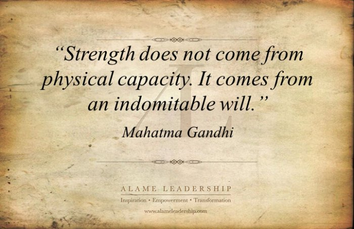 Image result for gandhi strength quote