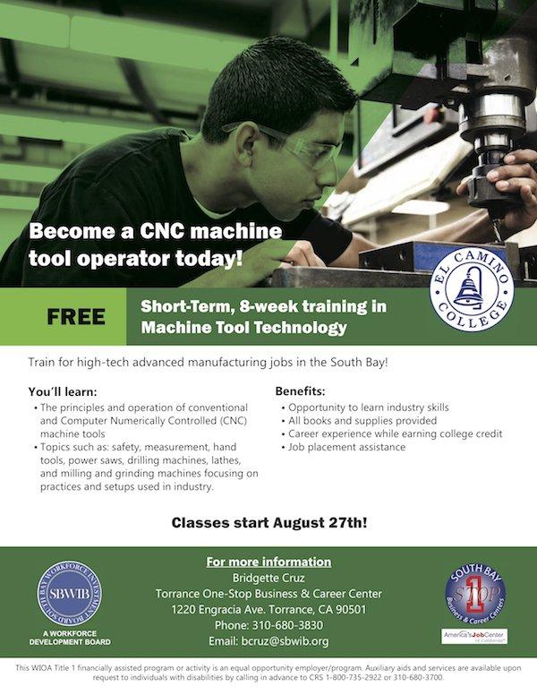 Laewdd On Twitter Free 8 Week Training In Machine Tool Technology