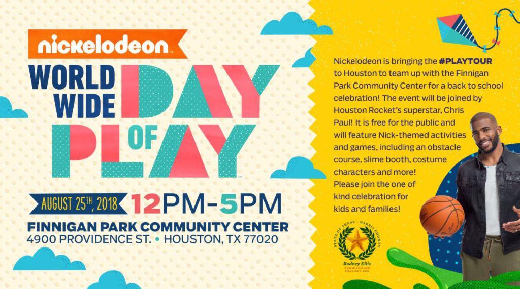 Bring the family out tomorrow Houston!! #PlayTour @Nickelodeon