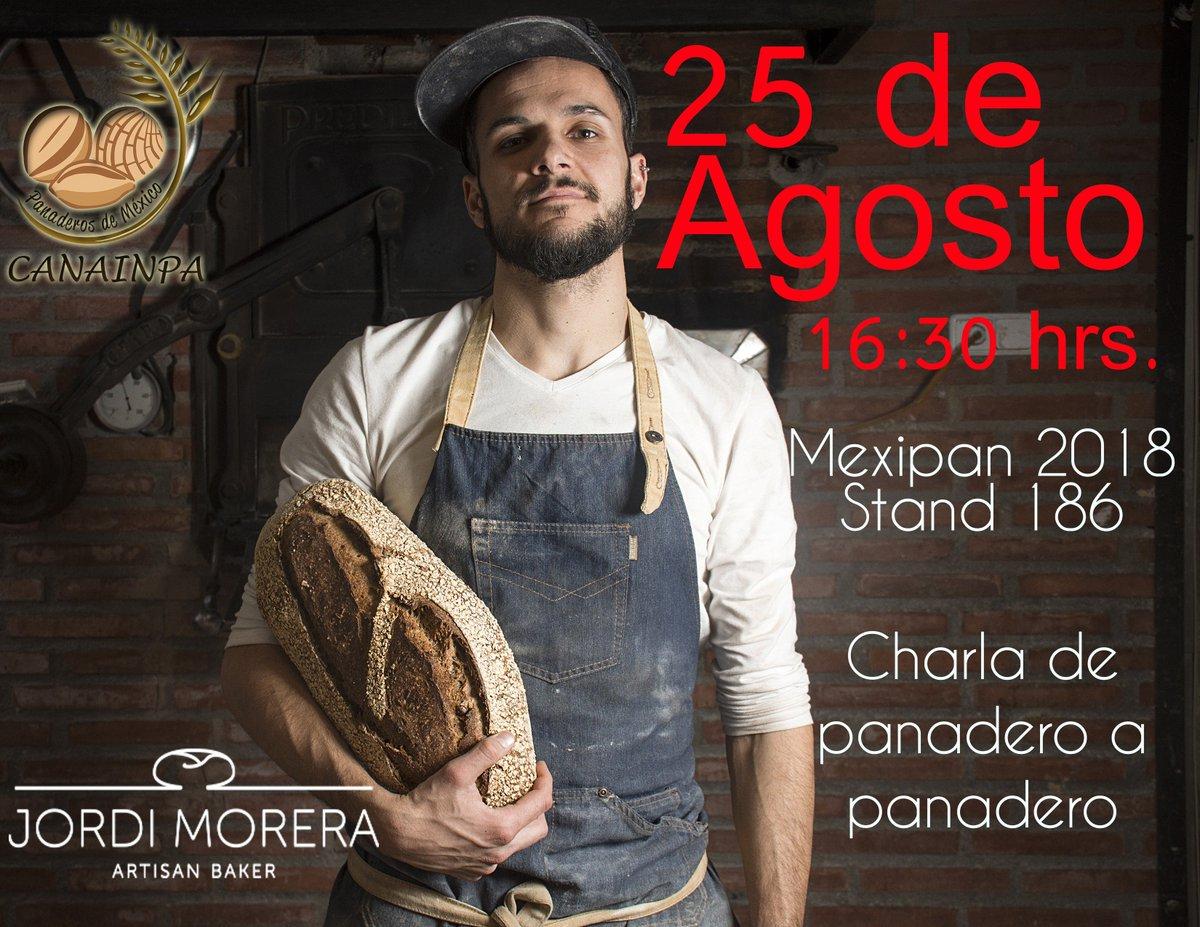 Te esperamos en @MEXIPAN1 este sábado con @J_Morera 🥖 😋  #BuenViernes @carlosotegui https://t.co/LSxGJW1O6h