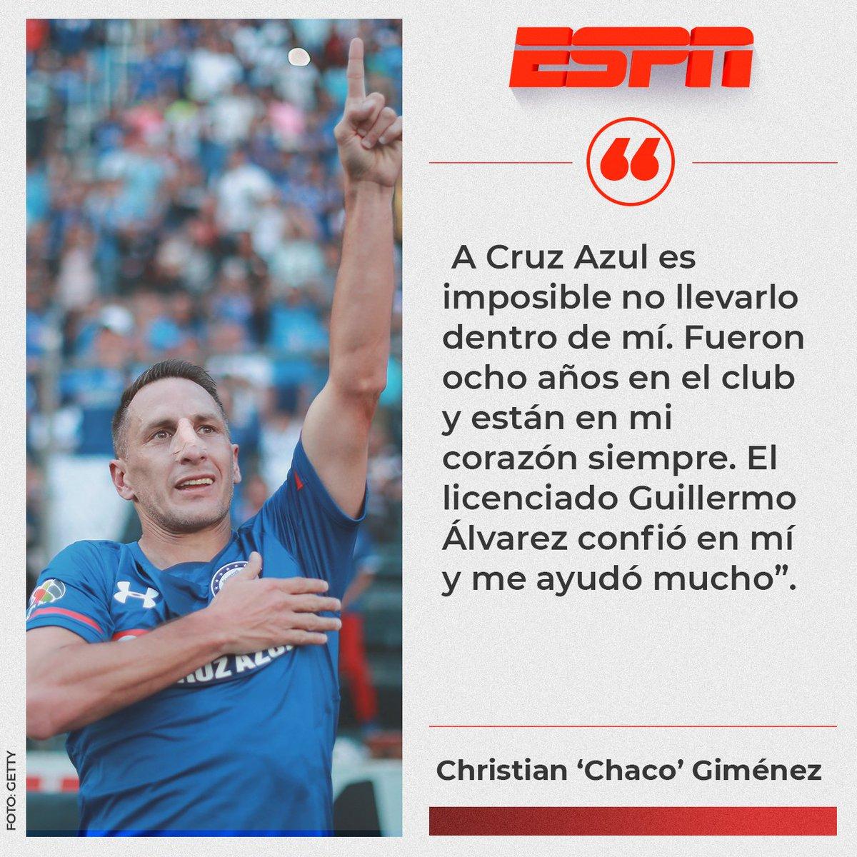 Cruz Azul tendrá siempre un lugar muy especial en el corazón del Chaco  Giménez 💙 ce5be4ac0f5fc