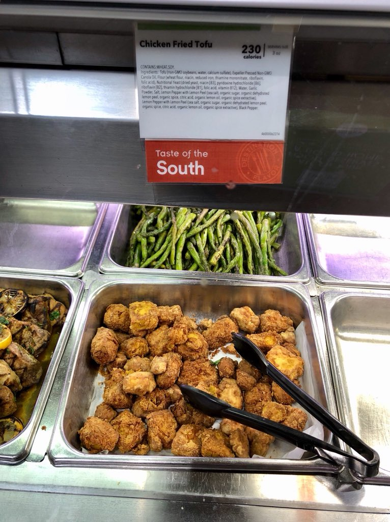 Vegan Omaha On Twitter Chicken Fried Tofu At The Whole Foods Hot
