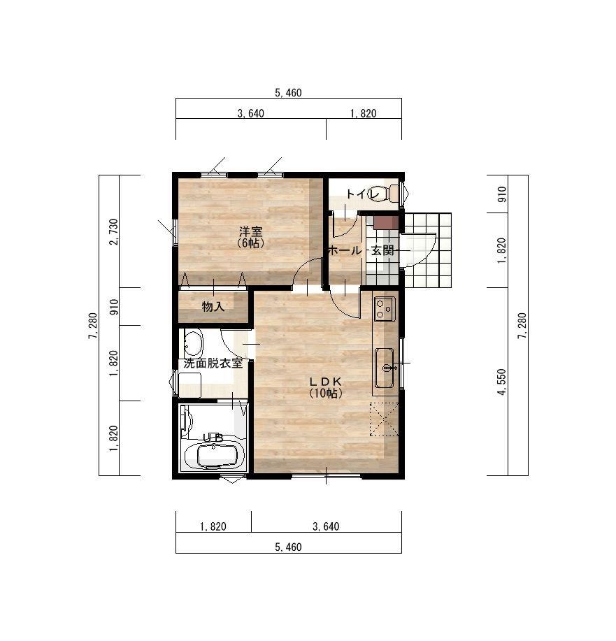 HIRAIE(ひらいえ) 低価格のひみつは?コンパクトなこと!  東側玄関1LDK12.01坪のプランです。  現在宮城県エリアのみの対応となっています。  https://t.co/dbM7FUKCIO # #新築 #平屋