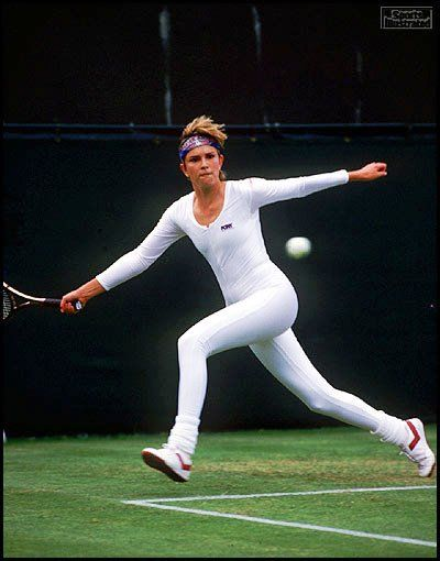Anne White, Wimbledon 1985.  2018 (outfit banned at the French Open). I hope they will reconsider their decision.  https://t.co/EildRKWP47