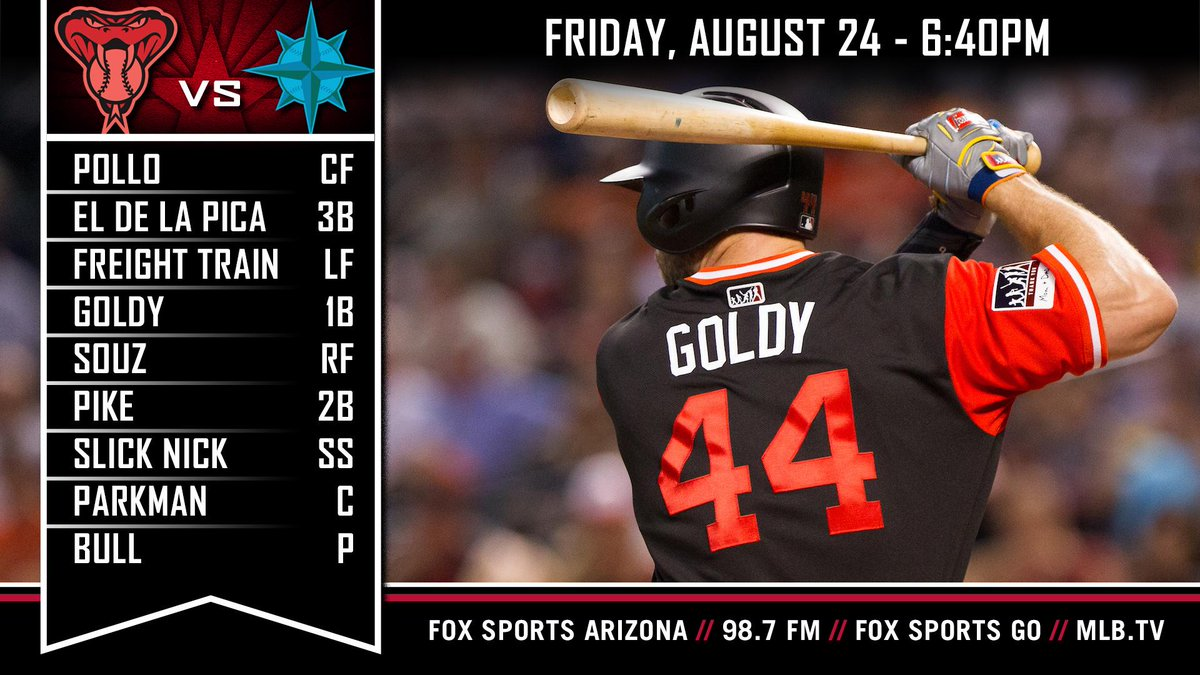 609f1a2b6ca  PlayersWeekend is here as Goldy and the  Dbacks host the Mariners for the  first time since 2012. Preview  https   atmlb.com 2PCmBlk pic.twitter.com   ...