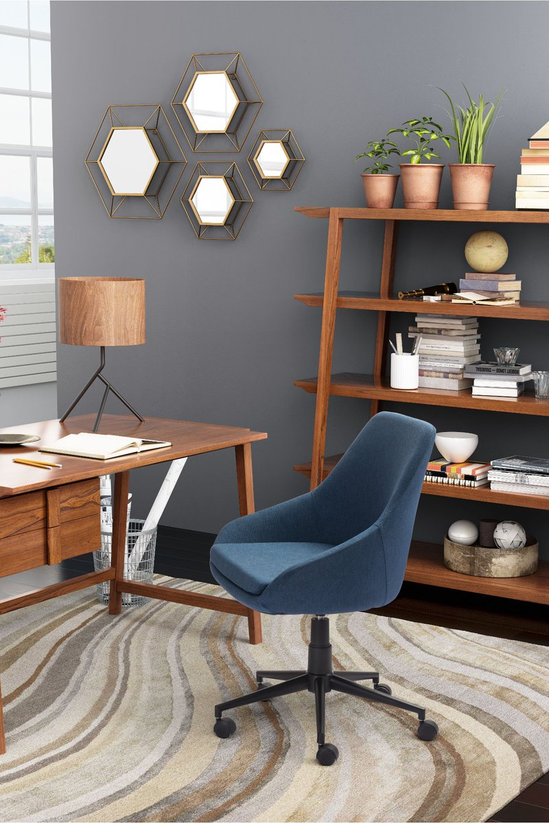 This Sophisticated And Comfortable Blue Office Chair From RC Willey Will  Offer You On The Job Comfort. ...