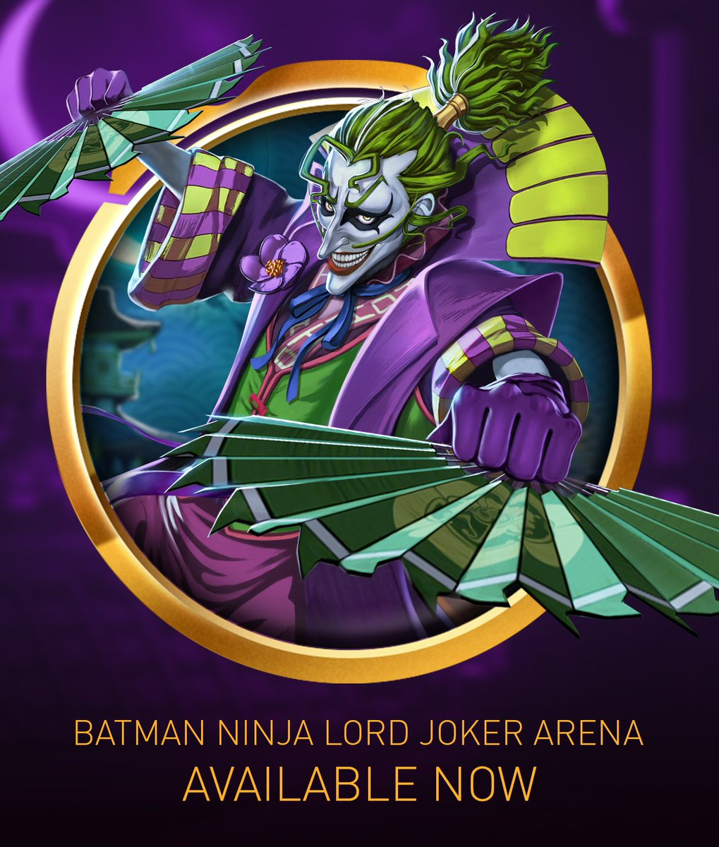 Injustice 2 Mobile On Twitter The Demon King Has Entered The Arena Batmanninja Lord Joker Benefits From The Passives Of Other Batman Ninja Heroes Such As Batman Ninja Catwoman S Blinding Effect Batman