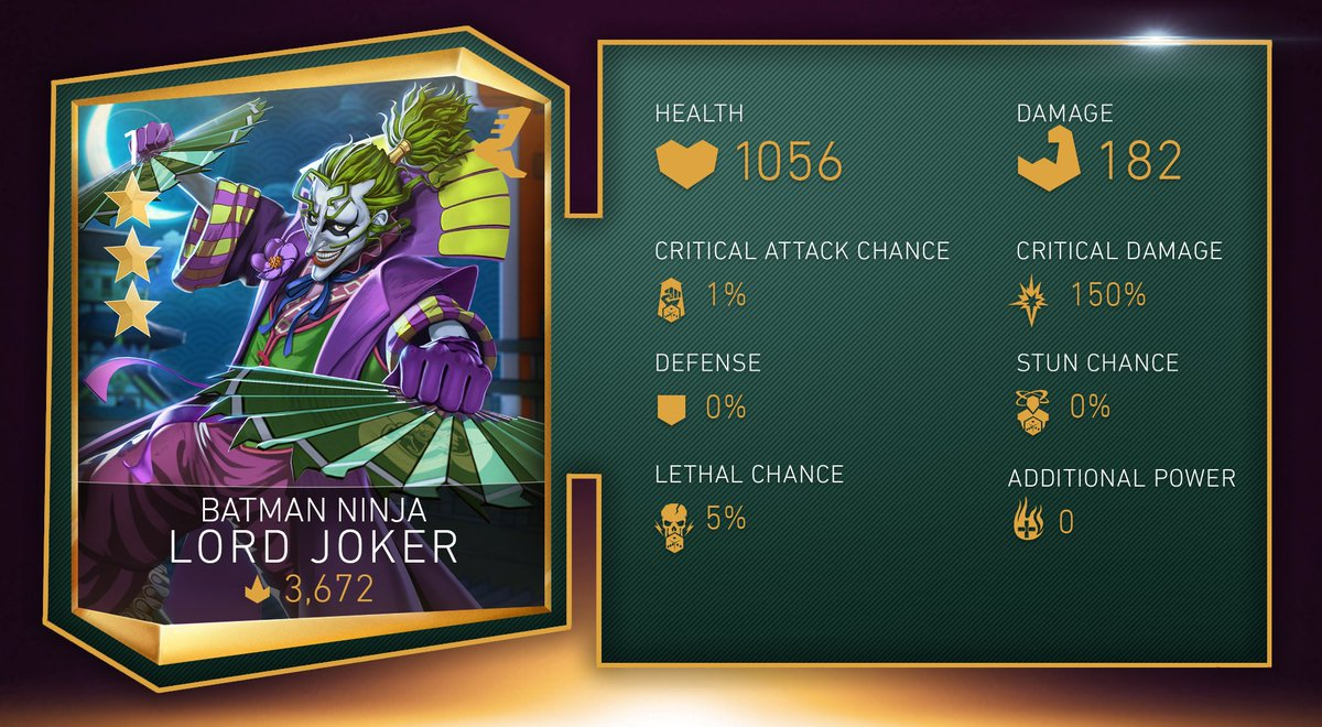 Injustice 2 Mobile On Twitter Take Your Game To The Next Level With Batmanninja Lord Joker Revive Up To Two Heroes From Ko With Increased Health When Any Batman Is On Batman