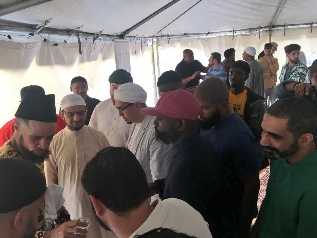 Usama Canon & Brother Ali at IMAN Eid Celebration