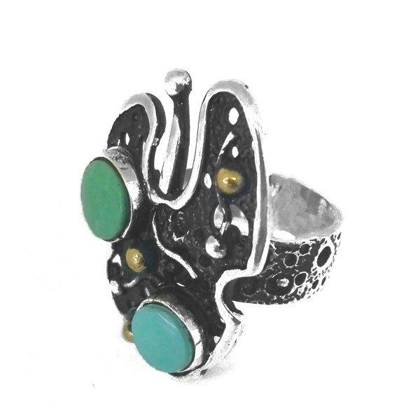 Кольцо с алмазом херкимерским Gabilo