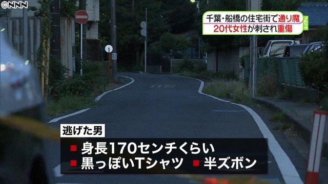 画像,【行方追う】千葉県・船橋で通り魔か 男はTシャツに半ズボン姿https://t.co/9jLyQJCbNP25日未明、住宅街で20代女性が、正面から歩いてきた男…