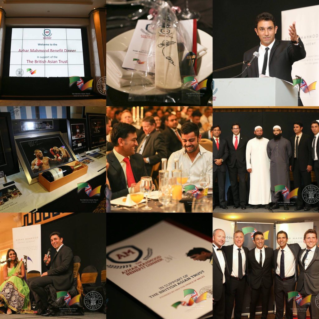 A beautiful memory. One of the most memorable & exciting projects we organised. The Azhar Mahmood Benefit dinner in support of @britishasiantst In aid of The Mental Health Program. Overwhelming 2c the support and love shown for @AzharMahmood11 by the entire cricket fraternity