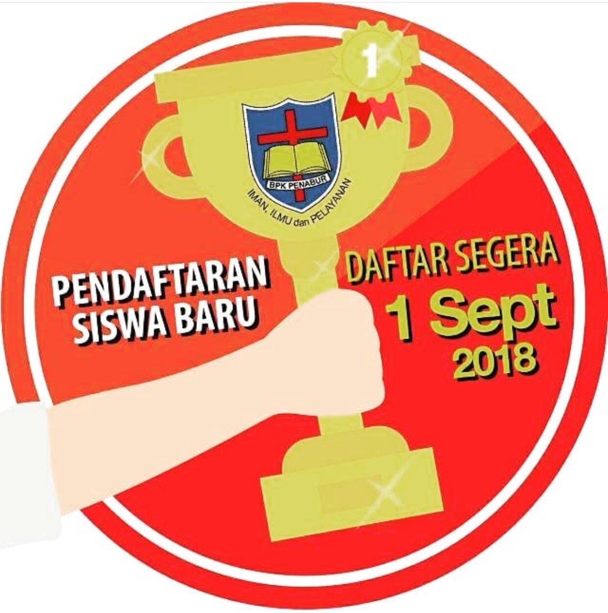 """BPK PENABUR Jakarta on Twitter: """"Pendaftaran siswa baru ..."""