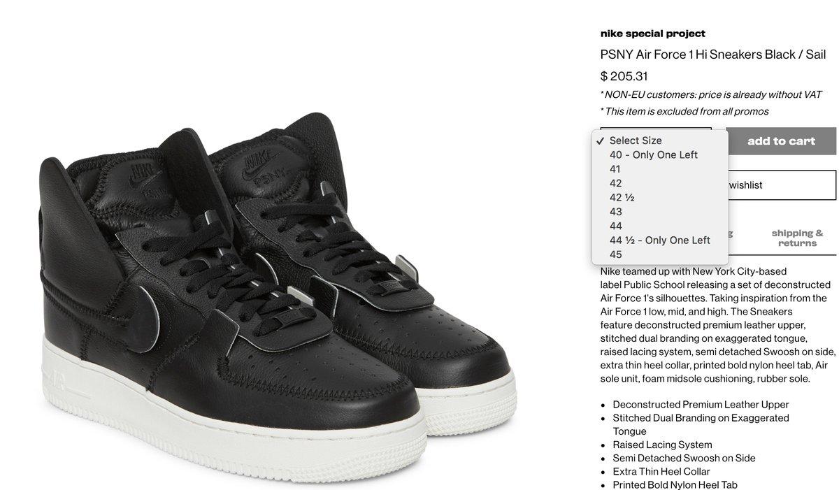 PSNY x Nike Air Force 1 LIVE EARLY at SJS Black   http   bit.ly 2MHO9Ie  White   http   bit.ly 2C8xRTU pic.twitter.com B62RAm2Twk c5cce9d9c3ba