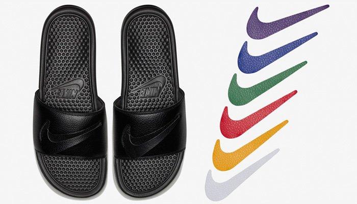nike interchangeable swoosh slides