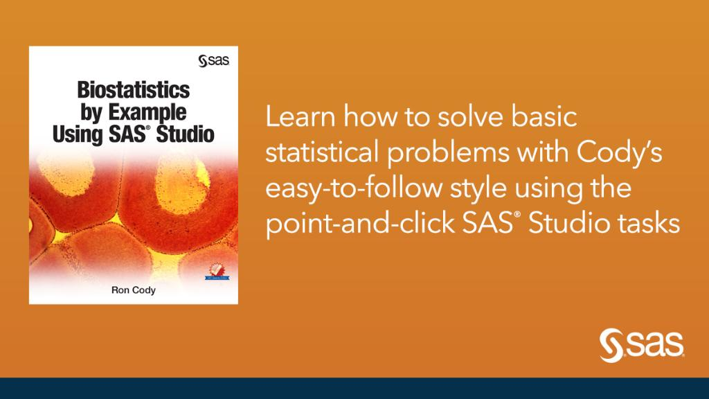sas software on twitter book of the month biostatistics by
