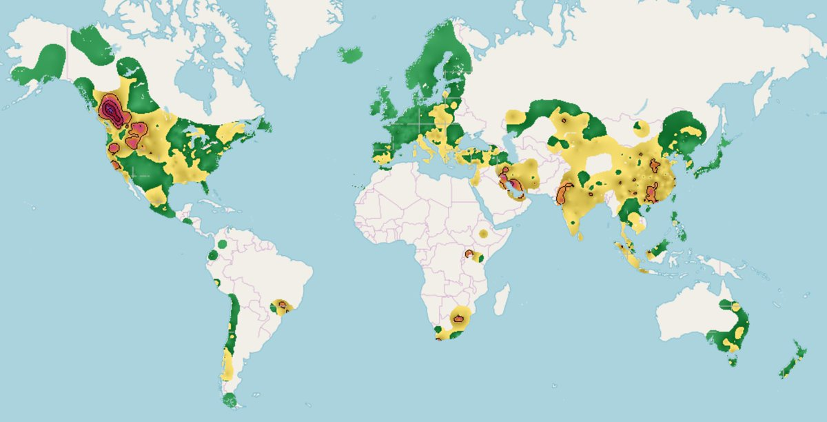 Robert Rohde On Twitter Map Of Recent Particulate Air Quality - Air-quality-map-of-us