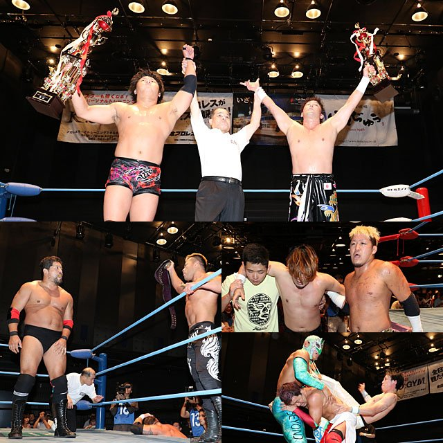 "AJPW:""Jr. Tag Battle of Glory"" Koji Iwamoto y TAJIRI, los ganadores 6"