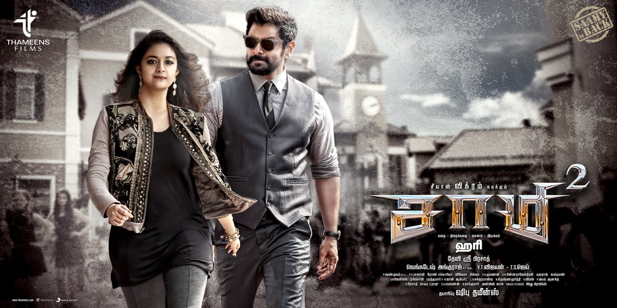 Chiyaan Vikram and Keerthy Suresh in Saamy Square