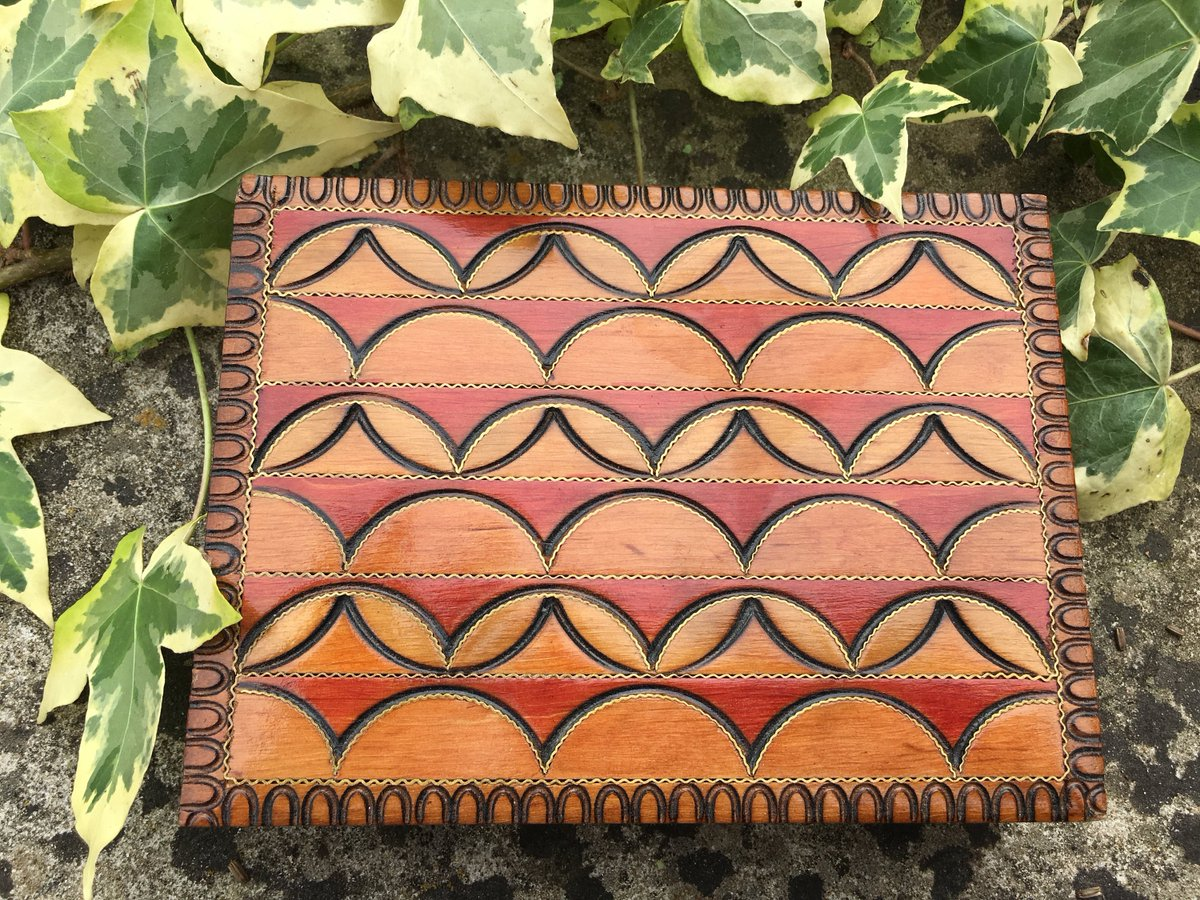 New Aztec Design Wooden Box
