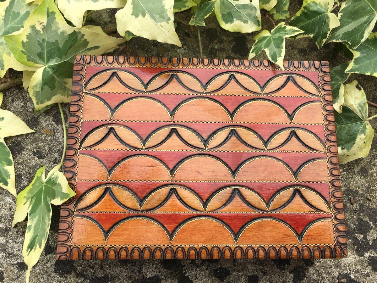 New Aztec Design Wooden Box