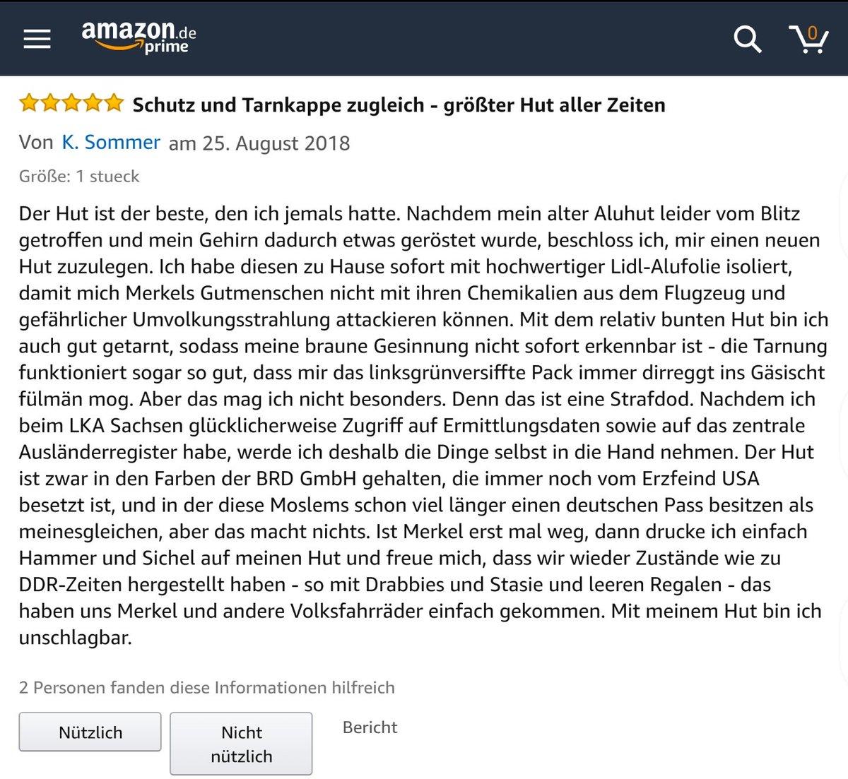 Der Deutschland-Anglerhut müsste auf Amazon jetzt ja ein Topseller werden (Schwerpunkt neue Bundesländer) #Pegizei