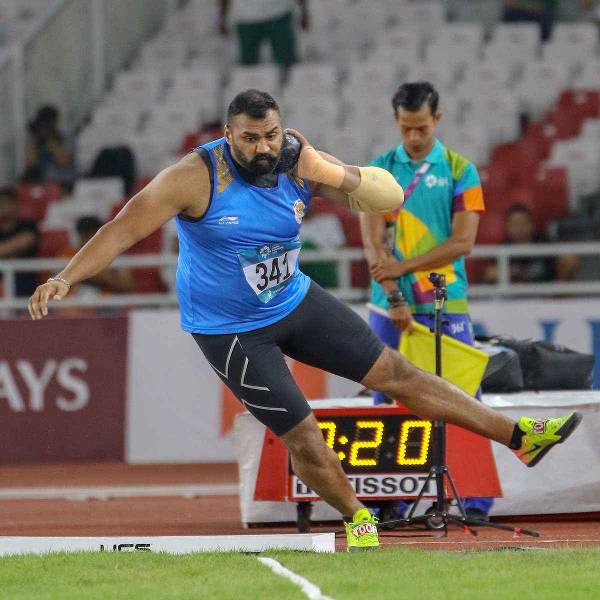 """RF Youth Sports on Twitter: """"Fantastic start to India's athletics campaign  at #AsianGames2018 Congratulations @Tajinder_Singh3 for a record-breaking  🥇 His feat will surely inspire young athletes to take up shot put in"""