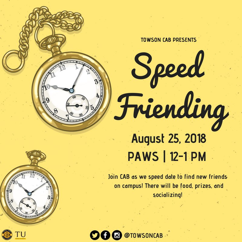 Speed dating to find friends