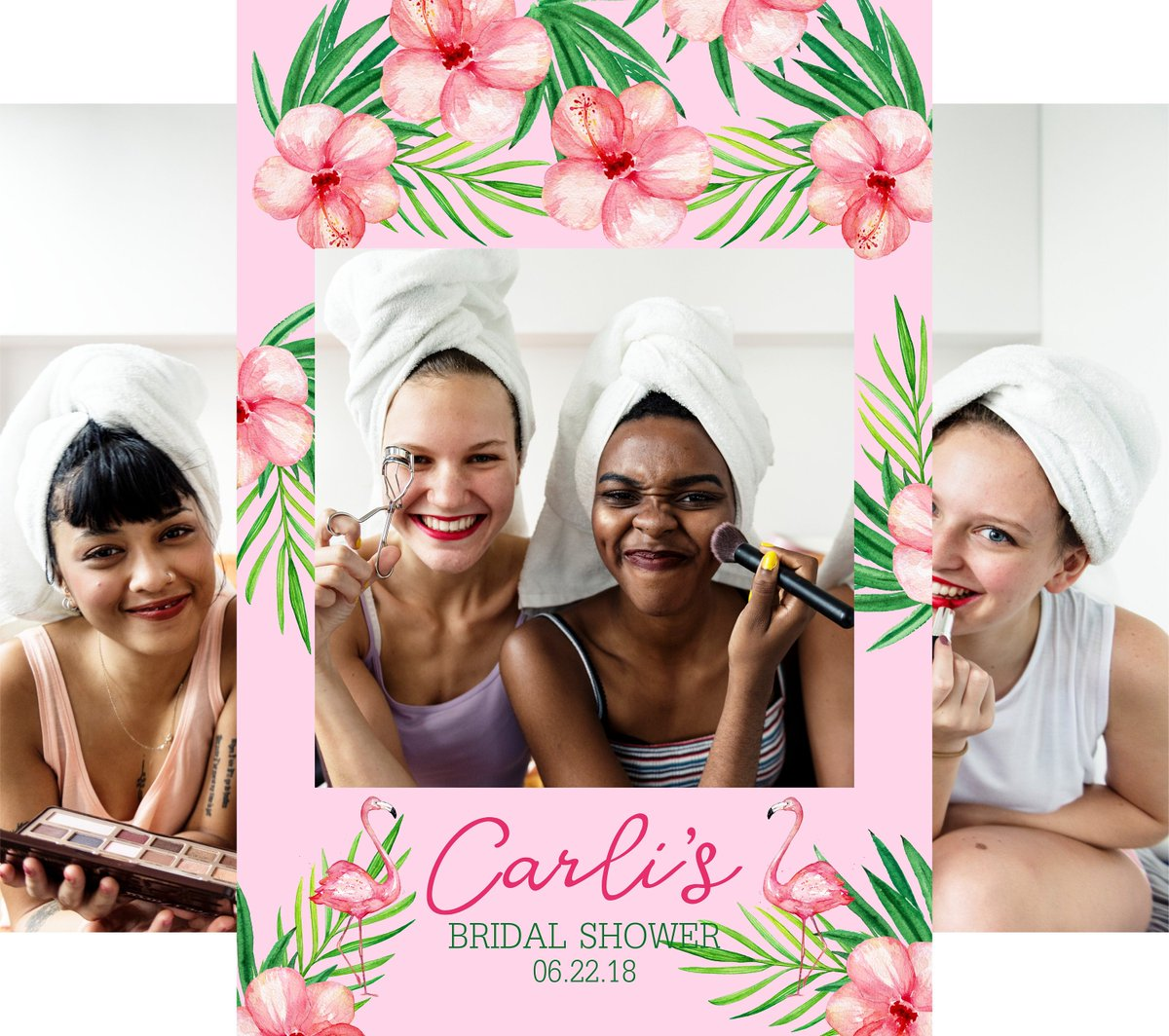 Diz On Twitter Bridal Shower Photo Prop Frame Pink Tropical