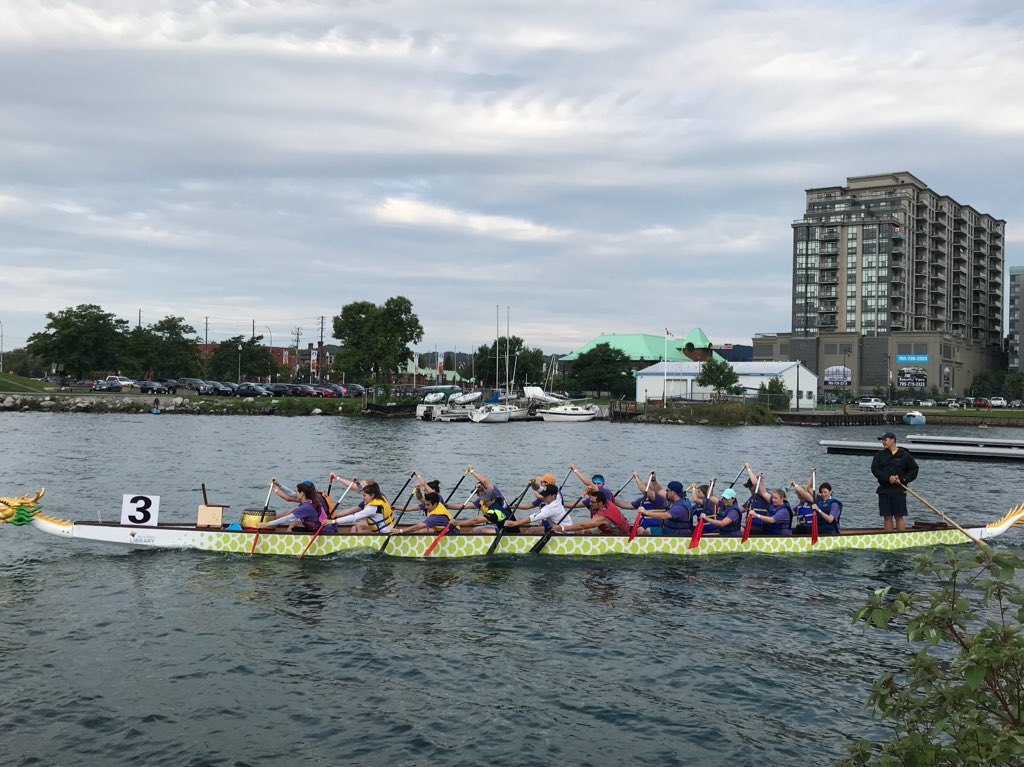 Race 4 is about to begin! Pirates of the Epilep'seas, The Moore Dragonslayers, Grant Thornton Thunder, Baywood Veterinary Services - How to Spay Your Dragon @simcoeepilepsy @Moore_Packaging #bdbf2018 #paddlesup