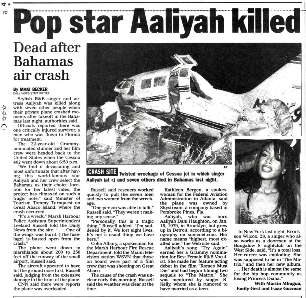 Death of Aaliyah - Wikipedia