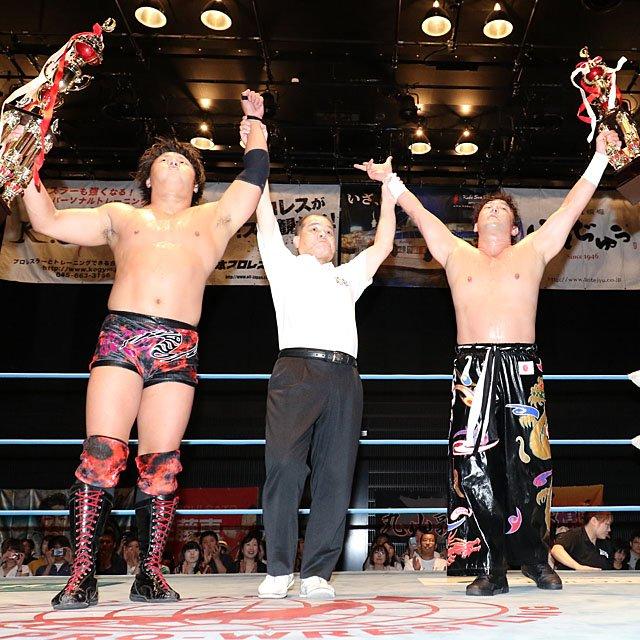 "AJPW:""Jr. Tag Battle of Glory"" Koji Iwamoto y TAJIRI, los ganadores 4"
