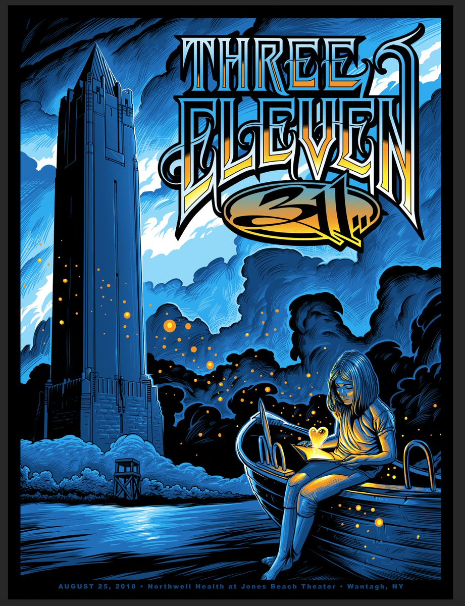 "311 on Twitter: ""311- Wantagh, NY at @NorthwellJBT tonight! Show poster by  #maxx242 @Fighting4Dreams 311 reg print approx 25 foils with 11 signed and  ..."