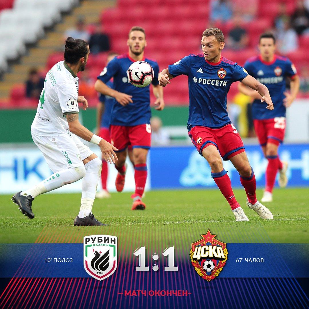 Прогноз на матч: Рубин – ЦСКА – 25 августа 2018 года