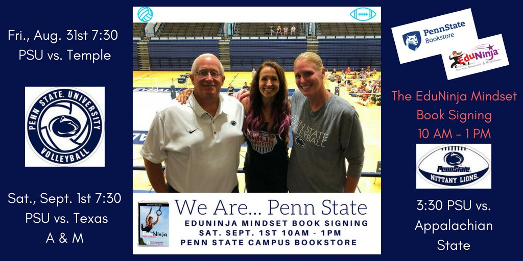 COUNTDOWN TO THE EDUNINJA MINDSET BOOK SIGNING AND PENN STATE FOOTBALL: 7 DAYS #weare #pennstate
