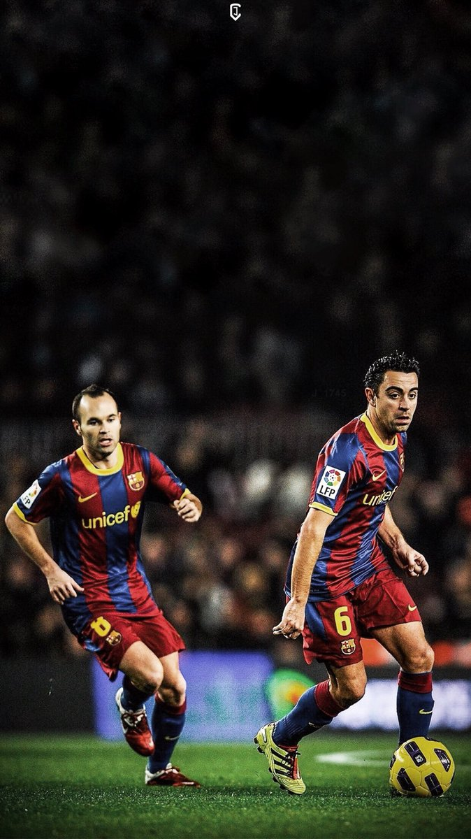 Barca Universal On Twitter Edit Iniesta Xavi Wallpaper By J 1745