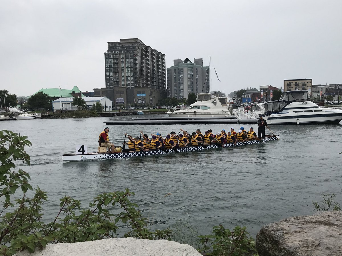 After a slight delay we're back at it to try to finish up Heat 2! Race 20 - Silver Division Championship Final: The Geri-Antics, Georgian Global Water Warriors, The DUCA Dragonboat Team, The Moore Dragonslayers @GroveParkHome @georgiancollege @Moore_Packaging
