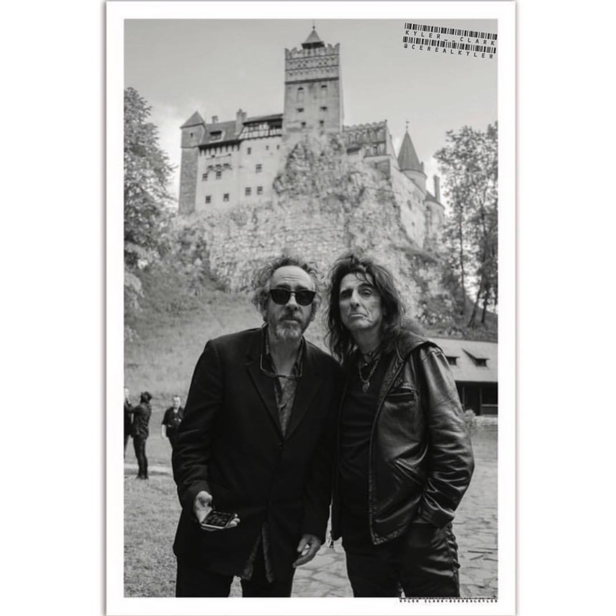 Happy 60th birthday Tim Burton. Photo of Tim and Alice in front of Dracula s castle in Romania by: