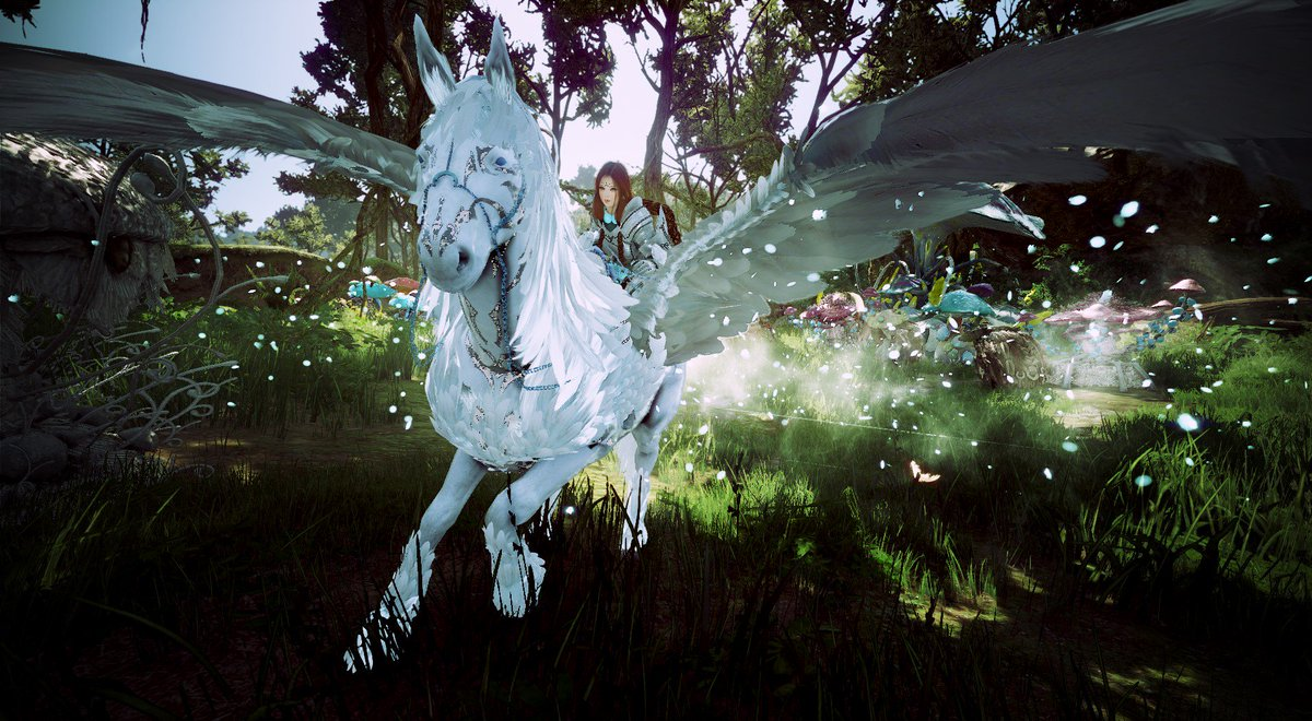 "Krissy B. on Twitter: ""Adventures in Polly's Forest with my pegasus  Moondust : 3 Region: EU FN: Wildspark @BDO_News #BlackDesertOnline  #BDORemastered #BDO #BDOScreenshot #gamescreenshot #pegasus #bdot9 #horse  #game #MMORPG… https://t.co/c39P1HZRQU"""