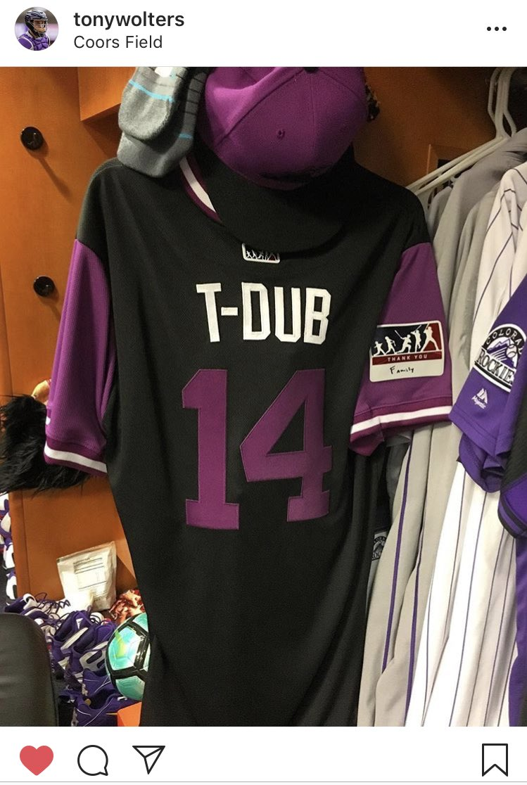"""84b517b96 Our  PlayersWeekend jersey would say """"atRockies."""" Here are theirs. What would  yours be pic.twitter.com LjmEVfLVyi"""