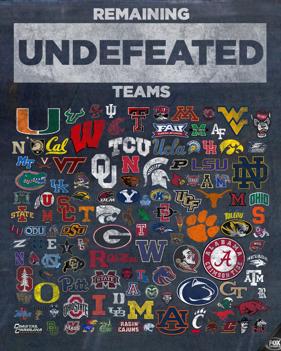RT if your team is still undefeated!