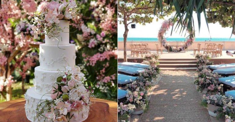 Camila Queiroz e Klebber Toledo apostam em decoração romântica para casamento na praia --> https://t.co/05jC6V53KL